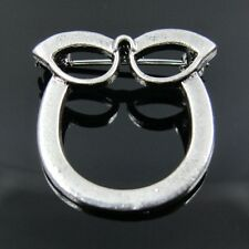 Cat Eye Eyeglass ID Pin Brooch Spectacles Sunglasses Chain Specs Glasses Holder