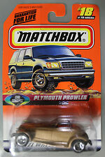 Matchbox 1:64 Scale 1998 Cool Concepts Series PLYMOUTH PROWLER (GOLD)