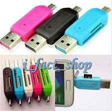 Mini 2 In 1 Micro USB 2.0 SD TF Card Reader OTG Adapter For Samsung PC HOT IFA