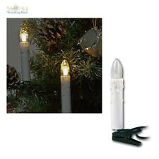 LED Innen Lichterkette, 16-flg. warmweiß, Kerzen Tropfen, Weihnachtsbeleuchtung