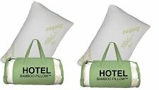 2 PACK King Hotel Bamboo Pillow Memory Foam Hypoallergenic Cool Comfort Bag NEW