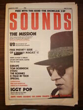 SOUNDS 1987 MAR 14 THE MISSION U2 IGGY POP THE BODINES