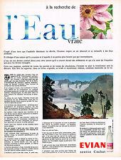 PUBLICITE ADVERTISING  1965   EVIAN  eau minérale