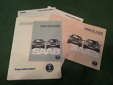 Oct 1986 1987 Model SAAB 9000i UK PRESS RELEASE + PRICE & DEALER LISTS Brochure