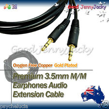 3M Gold Plated 3.5mm M to Male Speaker Earphone Audio Extension Cable Lead Cord