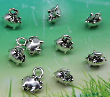 Free shipping 20pcs retro style Little Fat Pig alloy charms pendants 11*9mm