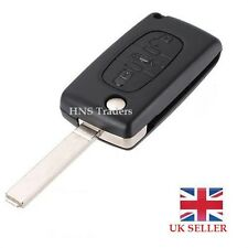3Button Replacement FOB Remote Key Case Uncut Blade Peugeot 207 307 407 308 607*