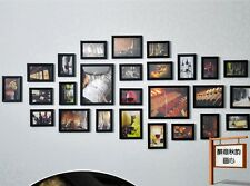 Modern 26PCS Black Multi Picture Photo Frame Set Wall Frames Set Collage Family
