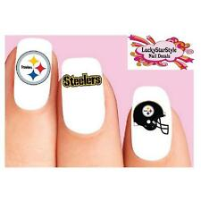 Waterslide Nail Decals Set of 20 - Pittsburgh Steelers Football Assorted