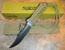"7.5"" TACTICAL COMBAT FULL TANG Survival HUNTING FIXED BLADE KNIFE Bowie Military"