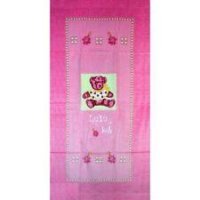 Serviette Drap de plage Lulu Castagnette Rose strandtuch beach towel coton
