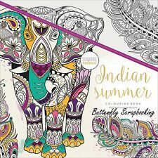 India Summer Coloring Book For Markers Watercolors Pencils Kaisercraft New