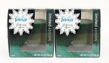 2 Febreze Limited Edition GLISTENING ALPINE Scented 1 - Wick Filled Candle