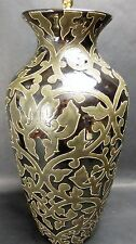 Elegant Palm Beach Modern Ceramic & Brass Table Lamp 33""