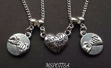 Best Friends Necklaces Friendship Pinky Promise Charms BFF Hearts Squad Goals