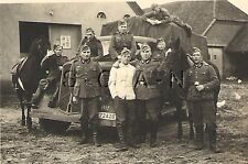 WWII German Large RP- Army- Soldier- Truck KFZ- Horse- Motor Pool- Stable- 1940s