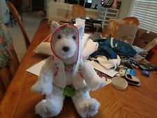 "13"" The Bear Factory Siberian HUSKY Grey Puppy Dog Plush Stuffed Animal Toy 2001"