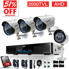 ELEC 8CH 1080N AHD DVR Outdoor 2000TVL CCTV IR Video Security Camera System 1TB