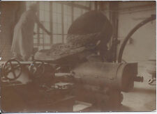 1920s SNAPSHOT PHOTO BAKER & INDUSTRIAL MIXER POUNDS & POUNDS OF FLOUR FOR BREAD