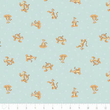 """Camelot Winnie The Pooh Tigger in Light Blue 100% cotton 44"""" fabric by the yard"""