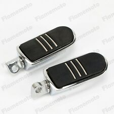 Chrome Streamliner Rear Front Foot Pegs For Harley Dyna Road King Sportster XL