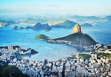 Fototapete-RIO de JANEIRO -(145i)-366x254cm-Brasilien Stadt- mit Tapetenkleister