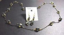 Necklace And Earrings To Match Lamp Work Beads And Swarvorski Crystal