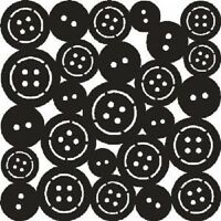 """THAT SPECIAL TOUCH OF Mica Masks BUTTONS Emboss 6""""x 6"""""""
