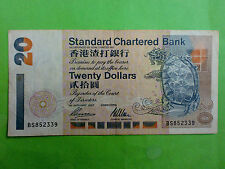 Hong Kong 1st January 1997 Standard Chartered Bank $20 (VF+) BS852339