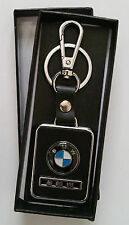 BMW leather car styling key ring key chain fob holder car accessories Black