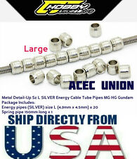 Metal Detail Up Size L Silver Energy Cable Tube Pipes MG HG Gundam U.S.A. SELLER