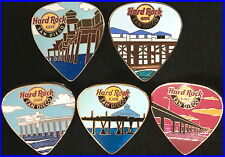 Hard Rock Cafe SAN DIEGO 2014 PIER Series GUITAR PICKS 5 PIN Complete Set NEW!