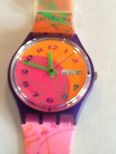 "SWATCH WATCH""FLUO SEAL"" VERY RARE NEW COLLECTABLE MINT GV700 GREAT GIFT NIB"
