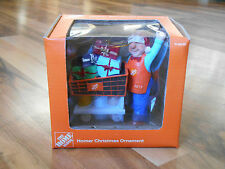 Home Depot Homer Christmas Ornament Cart Presents Handmade Collectible Box 2013