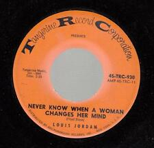 Northern Soul 45 LOUIS JORDAN Never Know When a Woman Changes Her Mind on Tanger