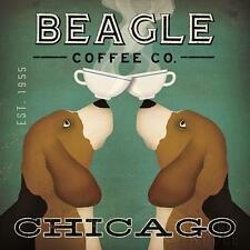 BEAGLE COFFEE CO. COMPANY HOUND DOG RETRO ADVERTISING POSTER ART PRINT - Chicago