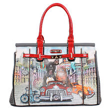 Nicole Lee City Drive Print 21-inch Overnighter Laptop Tote Bag