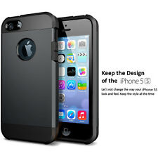 iPhone se 5s Case Protective [Armor] Dual Layer Protective iPhone Case Dark Grey