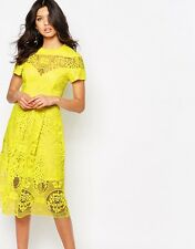 River Island Premium Lace Detail Skater Midi Dress UK 18/EU 46/US 14