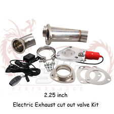 "Kylin2.25""Electric Exhaust+Remote Downpipe Cutout E-Cut Out Valve System Kit Red"