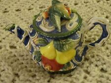 FITZ AND FLOYD FRUIT TEA POT