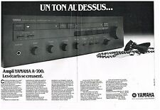 Publicité Advertising 1983 (2 pages) Hi-Fi Ampli Yamaha A-700