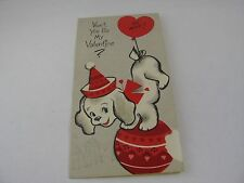 Vintage Valentine's Day Card Aunt Uncle Photo Man in Military Uni. Forget Me Not