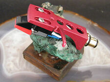 MM CARTRIDGE DIAMOND STYLUS TURNTABLE PHONO HEADSHELL SET RED CANDY NEW