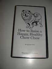 How To Raise A Happy Healthy Chow Chow VHS Canada Dog Care Insrtuctional Video