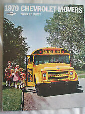 Chevrolet Movers School Bus Chassis brochure 1970