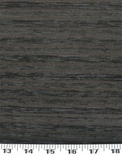 Drapery Upholstery Fabric Solid Chenille Railroaded Textured Stripes - Charcoal