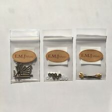EMJ Lead Wires & 7 size Brass Screw Set for cartridge headshell Offical NEW F/S