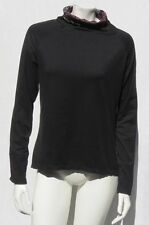 KYODAN Black Print Stretch Super Soft Active Long Sleeve Shirt Top size XS
