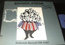 HERMES NYE Soldier Songs with Guitar LP FOLKWAYS RECORDS FH-5249